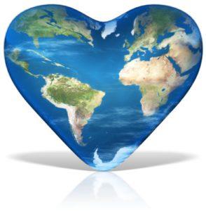 Welt mit Herz